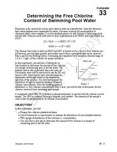 Determining the Free Chlorine Content of Swimming Pool Water