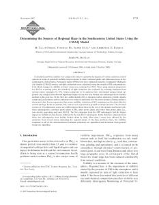 Determining the Sources of Regional Haze in the ... - AMS Journals
