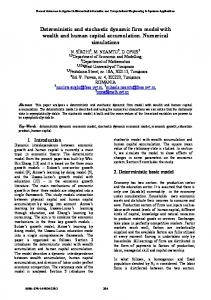Deterministic and stochastic dynamic firm model with wealth ... - wseas