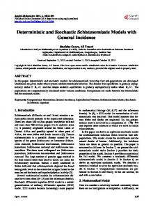 Deterministic and Stochastic Schistosomiasis Models with General