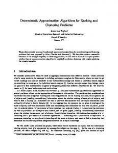 Deterministic Approximation Algorithms for ... - Semantic Scholar