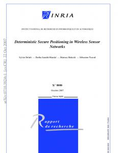 Deterministic Secure Positioning in Wireless Sensor Networks