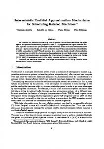Deterministic Truthful Approximation Mechanisms for ... - CiteSeerX