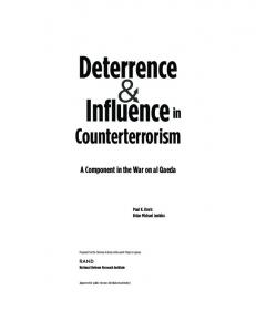 Deterrence and Influence in Counterterrorism: A ... - CiteSeerX