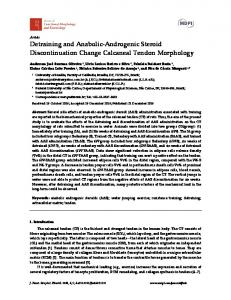 Detraining and Anabolic-Androgenic Steroid Discontinuation ... - MDPI