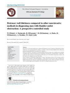 Detrusor wall thickness compared to other non-invasive methods in ...