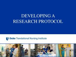 Develop A Research Protocol