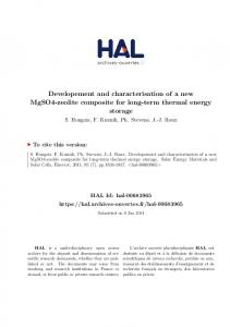Developement and characterisation of a new MgSO4 ... - HAL-Inria
