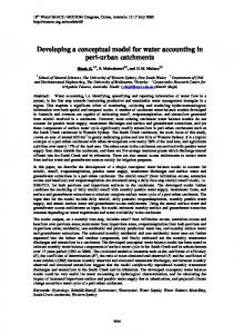 Developing a conceptual model for water accounting in ... - MSSANZ