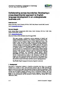 Developing a cross-departmental approach to English language ...