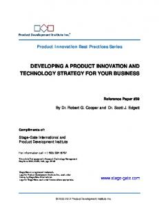 developing a product innovation and technology strategy for your