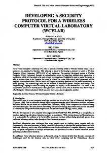 developing a security protocol for a wireless computer virtual