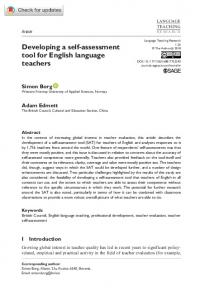Developing a self-assessment tool for English language teachers