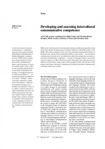 Developing and assessing intercultural