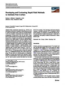 Developing and Evaluating Rapid Field Methods to ... - Springer Link