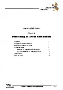 Developing Balanced Core Beliefs - Centre for Clinical Interventions
