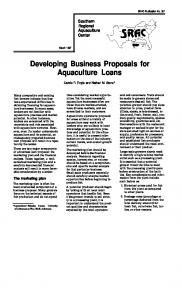 Developing Business Proposals for Aquaculture ...