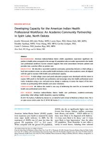 Developing Capacity for the American Indian Health Professional ...