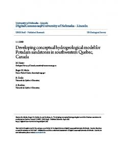 Developing conceptual hydrogeological model for ...