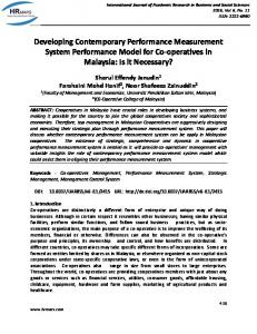 Developing Contemporary Performance Measurement System ...