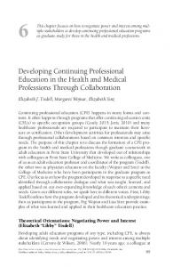 Developing Continuing Professional Education ... - Wiley Online Library