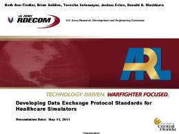 Developing Data Exchange Protocol Standards for ...