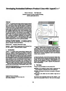 Developing Embedded Software Product Lines with AspectC++