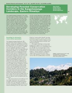 Developing Forested Conservation Corridors in the ... - BioOne