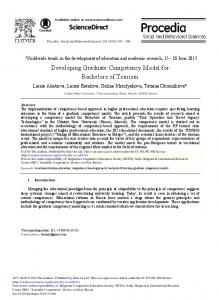 Developing Graduate Competency Model for ... - ScienceDirect.com