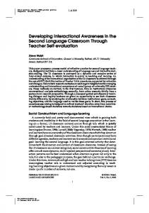 Developing Interactional Awareness in the Second Language ...