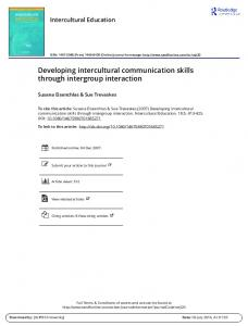 Developing intercultural communication skills through