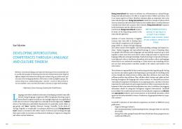 developing intercultural competences through ...