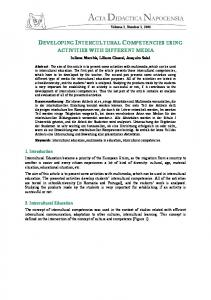 developing intercultural competencies using activities with ... - DPPD