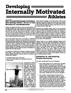 Developing Internally Motivated Athletes - USA Gymnastics