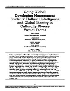 Developing Management Students' Cultural Intelligence and Global ...