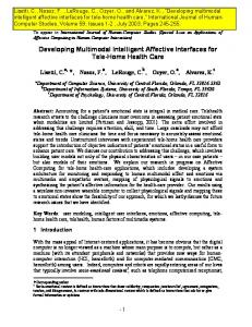 Developing Multimodal Intelligent Affective Interfaces for ... - CiteSeerX