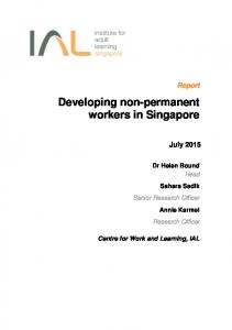 Developing non-permanent workers in Singapore - IAL