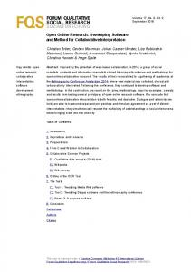 Developing Software and Method for Collaborative Interpretation