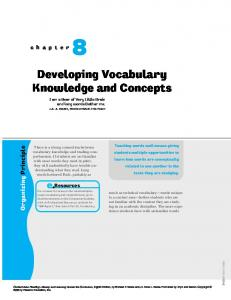 Developing Vocabulary Knowledge and Concepts - historymalden