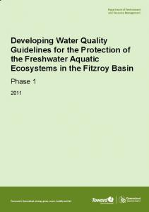 Developing Water Quality Guidelines for the