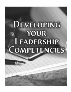 Developing Your Leadership Competencies - US Army in Europe