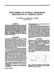 developm ent of atypical amiodarone keratopathy in a corneal ... - Nature