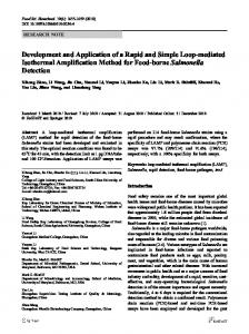 Development and Application of a Rapid and Simple ... - Springer Link