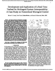 Development and Application of a Real-Time Testbed for Multiagent ...