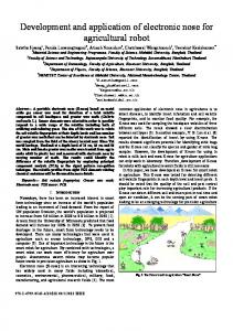 Development and application of electronic nose for ... - IEEE Xplore