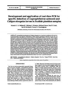 Development and application of real-time PCR for specific detection of ...
