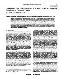 Development and Characterization of a Solid Phase ... - Bentham Open