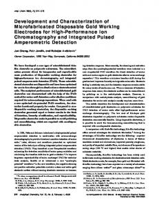 Development and Characterization of Microfabricated Disposable ...