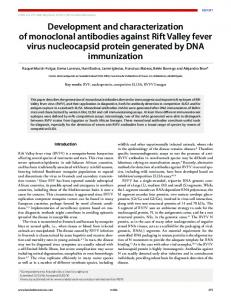 Development and characterization of monoclonal antibodies against ...