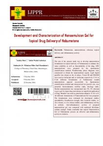 Development and Characterization of Nanoemulsion Gel for Topical ...